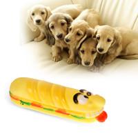 Wholesale Elongated Rubber Hamburg Pet Toys with Sound