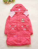 Wholesale New kids top quality down coat feather dress down jacket down wear with bear pattern