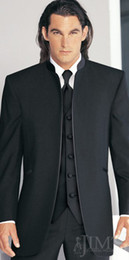 Wholesale Groom Tuxedos Best man Suit Wedding Groomsman Men Suits Bridegroom Jacket Pants Tie Vest Z205