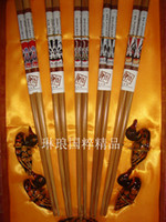 Wholesale Personalized Chopsticks Sets Wood Printing Peking Opera Crafts with Gift Boxes Set pair Free
