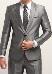 Wholesale hot men s suits wedding suits dress suits sets one button colors man s suit