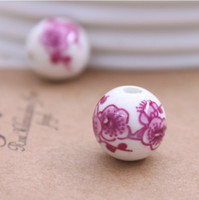Wholesale DIY Fitting Ceramic Beads Earrings and Necklace Accessories Wintersweet Flower Fashion Beads