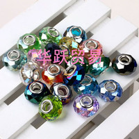 Wholesale fashion Faceted Crystal Beads mixed color two side fit biagi jewelry