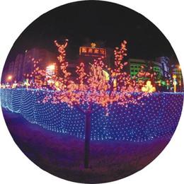 Rgb led net à vendre-Lumière nette de 2pcs 110V / 220V 2 * 3 M 200 RGB LED, décoration féerique de vacances de Noël, 4 couleurs, couleur mélangée, expédition de baisse libre