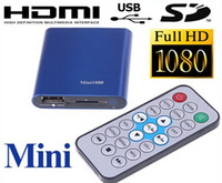 Wholesale 1080P Full HD Player Mini Multi Media Player with Remote Control HDMI Output Support USB SD MKV RM R