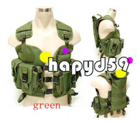 Wholesale free ship adjusted U S Navy Seals modular assault vest Hunting tactical vest Chest Vest hump water pouch vest green