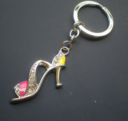hot sell key ring fashion keyring Zinc alloy keychain with shoe charms, 50pcs lot, free shipping(CK0051)