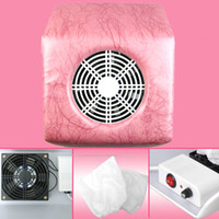 Wholesale V Pink Stripe Nail Art Dust Suction Collector Vacuum Cleaner Machine Bags NA420