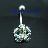 bell fix - 0493 frog navel belly ring piercing body jewlery Belly Button Ring Fixing BELLY BAR JFC