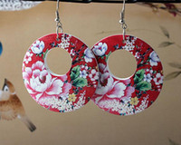Wholesale Handmade Wood Earrings For Women Hoop Fashion Dangle Diameter cm mix color Styles pairs Free