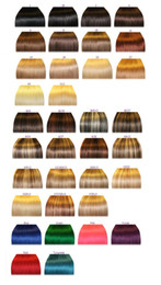 Wholesale custom made hair extensions all kind hair extension can be done in any color length weight texture