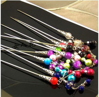 Wholesale Wholesale12PCS handmade Chinese bead Hair Clasp Hairpin Hair Jewelry