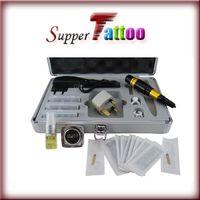 Wholesale Freeshipping NEW Permanent Makeup Kit Tattoo Eyebrow Machine Needles Tips Ink Power Supply