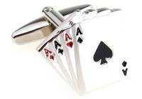 Wholesale Poker cufflinks men s hot sell cufflinks