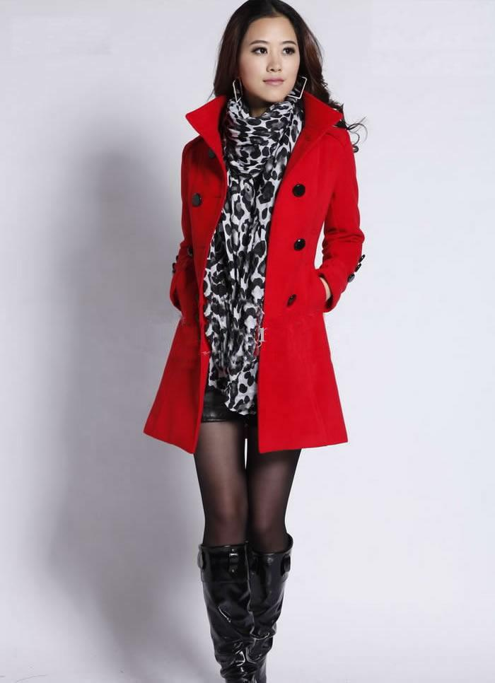 New Arrival Women Wool Coat Winter Clothes Outerwear Overcoat