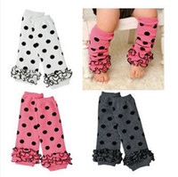 Wholesale 6pcs Unisex baby socks lace knee pad children legging Kids toddler High socks stocking