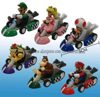 Wholesale High Quality PVC Super Mario Kart toy Kart Pull Back Figure