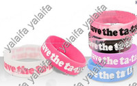 Wholesale 50pcs New Latest Bracelet Save The Ta tas Silicone Saying Bracelets Xmas gift r5r
