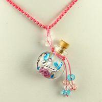 murano pendant - murano glass small wish bottle charm pendant necklaces empty vials necklaces for ashes vintage perfume bottle pendant necklaces