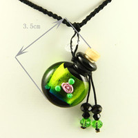 aromatherapy suppliers - empty small glass vial necklace pendants aromatherapy pendants necklace supplier top quality lampwork glass with flower Mun007