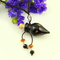 Sharp-nez huile essentielle diffuseur collier aromathérapie pendentif en verre de murano pendentif parfum flacon bouteille pendentifs en lampwork Mun010