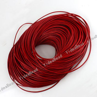 Wholesale 20 Meter Round Red Real COW Leather Cord Thong Genuine Quality Jewerly handmade crafts mm