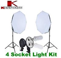 Wholesale Studio Continuous Lighting Kit Photo Video Light Socket E27 Lamp Holder Bulb Octa Softbox Stand