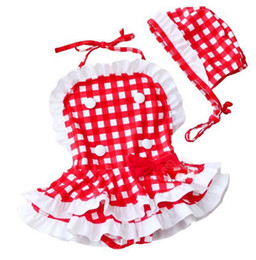 Wholesale 2012 Fashion bikini swimwear for baby girls red and white Checkered Plaid of White and Red HOT SELL