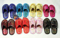 Wholesale Wholesale10pairs silk satin Women s Men Shoes Slippers SZ