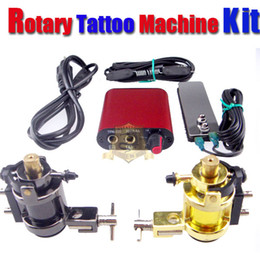 Wholesale New Professional Tattoo Kit Rotary Tattoo Machine Gun Power Supply Pedal Switch Set TK101