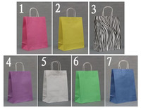 Wholesale colorful kraft paper bag Kraft Paper shopping bag per cm