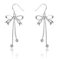 Wholesale Silver Promotion Lovely Butterfly Pendant Earrings Jewelry