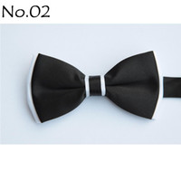 Wholesale men s bow tie BLACK tie bowties men s ties men s bow ties tie knots bowtie pure color men s tie