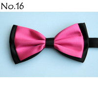 Wholesale men s bow tie rose tie bowties men s ties men s bow ties tie knots bowtie pure color men s tie