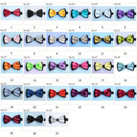 Wholesale men s bow tie satin bowties men s ties men s bow ties tie knots bowtie pure color men s tie