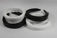 White plastic headbands - 10pcs Plastic Headbands White amp Black Tone Craft Blank Plain Plastic headwear1 cm