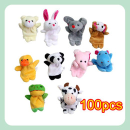 Wholesale Cartoon Animal Finger Puppet Finger Toy Finger Doll Baby Dolls Baby Toys Animal Doll
