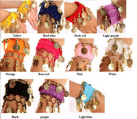 Chiffon Fabric & Metal Coin  armed dance - Belly Dance Anklet Costume Wrist Arm Ankle Cuff Coin Beautiful Bracelets Belly Dance Bracelets Belly Dance Accessory
