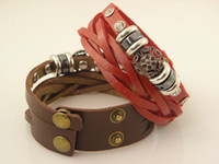 Wholesale New Arrival Exquisite Double Leather Braided Bracelets For Women Xmas Gifts Mix Order15pcs
