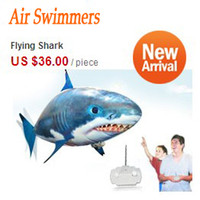 Wholesale RC Air Swimmers Flying Shark Nemo Radio Remote Control Flying Clownfish Shark Flying Toys Christmas Gift