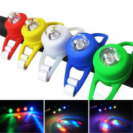 free shipping New Hot Selling Led Caution Light Silicone Bike Bicycle Head Rear Wheel LED Flash Light