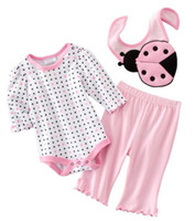 3-6 Months Medium Pink Baby bibs suits rompers pant toddler girls tracksuits jumper onesies tshirts outfits bodysuits ZW599