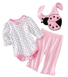 Wholesale Baby bibs suits rompers pant toddler girls tracksuits jumper onesies tshirts outfits bodysuits ZW599