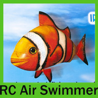 air swimmer - 8pcs Air Swimmers Shark Clownfish Nemo RC Flying Remote Control Floating Fish Toy RTF