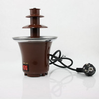 Wholesale New Elegant Stainless Steel Tier Chocolate Fountain Fondue Great Gadget for Parties