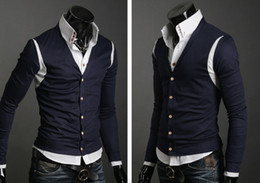 Wholesale 2011 autumn winter men s Brand new design cashmere cardigan sweater sweaters size M XL