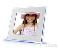 Wholesale GB quot Digital Photo Frame LED Music Vedio Player Frame Square SD MS USB Acrylic