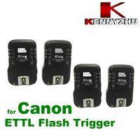 Wholesale Wireless E TTL Flash Trigger Pixel King For Canon D II D D GHz S Via Fedex