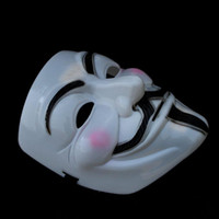 Wholesale 10pcs V Mask for Vendetta Mask Halloween Masks cosplay party dance dress gift Halloween party Mask