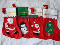 Wholesale Red Christmas socks Christmas gift bag Christmas stockings large decals gift socks chinapost